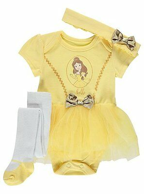 BABY GIRLS 3 Piece BELLE Tutu Set Party Costume/Fancy Dress/Outfit  0-18 Months