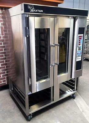 Baxter Ov300E 6-Pan Mini Rotating Rack Electric Bakery Steam Oven On Rack Stand