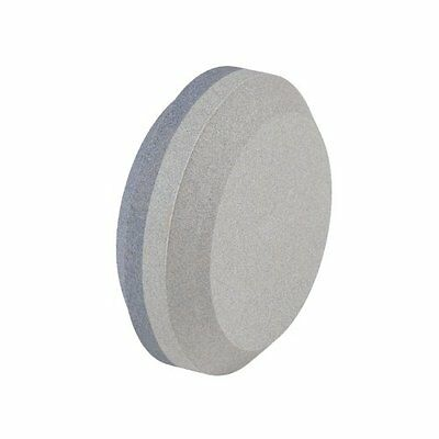 NEW Dual Grit Puck Sharpener Round Knife Sword Axe Blade Sharpening Stone