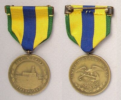 US Navy Mexican Service Medal # 7254 - named on the rim