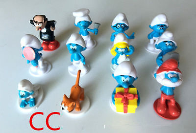 Hot Sell 12 PCS The Smurfs Papa Smufette Briany Halloween Collection Figures