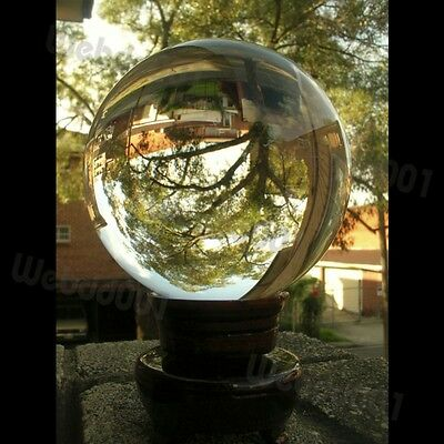 Clear Crystal Ball 100MM FENG SHUI /w Free Stand W