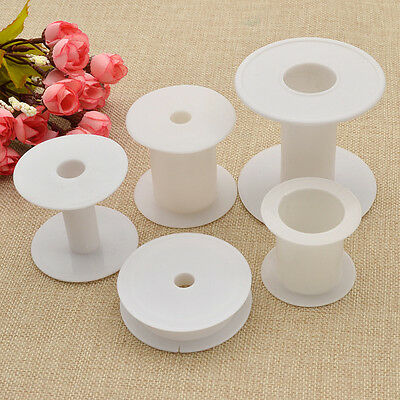 Empty Plastic Bobbins Spools For Thread Ribbon Sewing Accessory Various Sizes