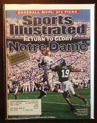 Maurice Stovall Autographed Signed Sports Illustrated SI Magazine Notre Dame