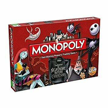 Nightmare Before Christmas Monopoly Family Board Game Brand New Sealed