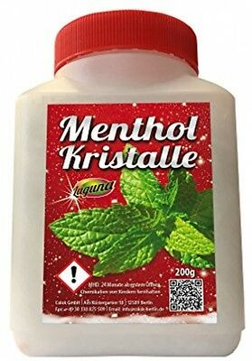 200 G Menthol Crystals In Resealable Bottle, 100% Natural, Made From Pure Mint