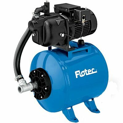 Flotec FP415515H - 8.5 GPM 1/2 HP Cast Iron Shallow Well Jet Pump w/ 15 Gallo...