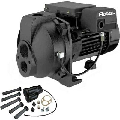 Flotec FP4210 - 10 GPM 1 HP Cast Iron Convertible Jet Pump w/ Injector Kit