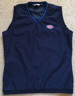 Callaway Golf Wind Vest Top Womens Size 14 Blue Polyester Lined VGC