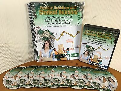 Positive Cash Flow With Student Housing By Doug Faith - MANUAL & 8 CD PACKAGE!