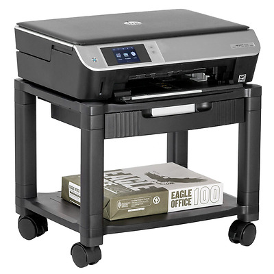 Halter LZ-306A Mini Rolling Printer Cart Machine Stand with Cable Management - H