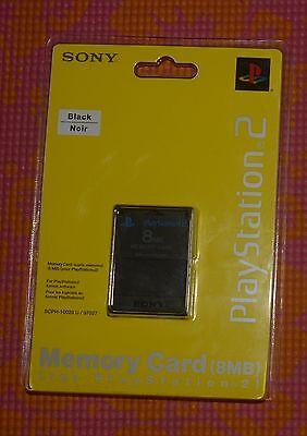 Genuine Sony Memory Card (8MB) for Playstation 2 (PS2) (SCPH-10020) - Black