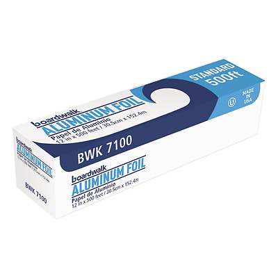 "Boardwalk 7100 Standard Aluminum Foil Roll, 12"" x 500 ft, 14 Micron Thickness, S"