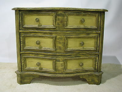 Vintage Henredon Painted Three Drawer Stand With Serpentine Front, 1960's