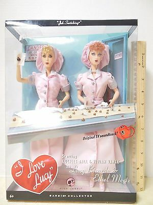I LOVE LUCY JOB SWITCHING LUCY AND ETHEL BARBIE Dolls Pink Label New in Box