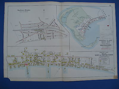 Original 1910 Map of Provincetown Cape Cod MA Barnstable County by George Walker