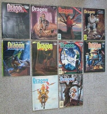 Dungeons And Dragon Magazine Lot Of 10 D&D Magazines