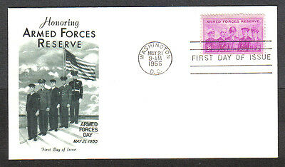 Us Fdc 1955 Armed Forces Reserve 3C Stamp Fleetwood First Day Of Issue Cover