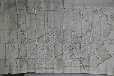 Map Pennsylvania Antique Lithograph 1870 of Reading Howell Map of 1811