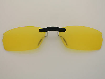 761a9071e3 Custom Fit Polarized CLIP-ON Sunglasses For Double Tap OX3123 53X18 HD  Yellow