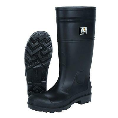 Cleated Sole Boots Safety Works Size 13 Black PVC 100% Waterproof MSA Grip Heavy