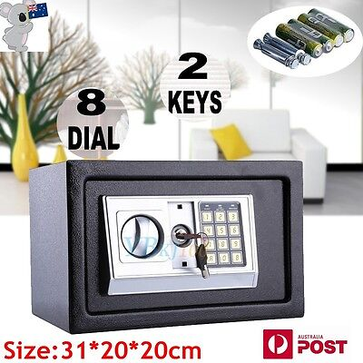 Personal 8.5L Electronic Digital Security Medium Safe Box Home Office 20CM High