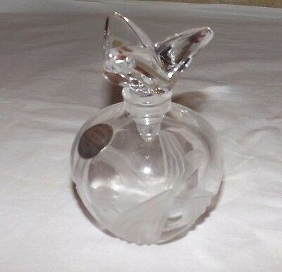 NEW ASTRAL Full Lead Hand Made Etched Crystal PERFUME BOTTLE (Made in Korea)