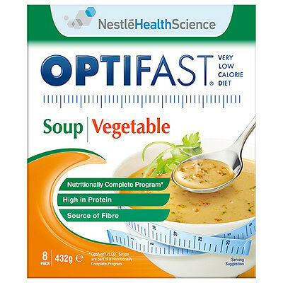 NEW Optifast VLCD Soup Pack Vlcd Soup Vegetable Flavour Diet 8Pack