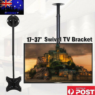 Swivel Ceiling Mount VESA TV Bracket LCD LED Plasma Monitor 17 26 32 36 37'' AU