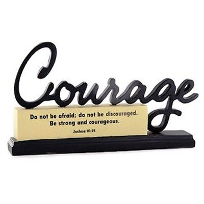 Black & Cream Courage Resin Paperweight. HOME, OFFICE DECOR. GREAT GIFT