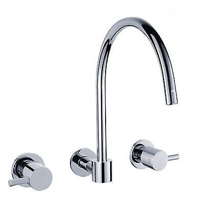 New Lollypop Round Laundry sink Wall Tap Mixer set & Swivel 1/4 Turn