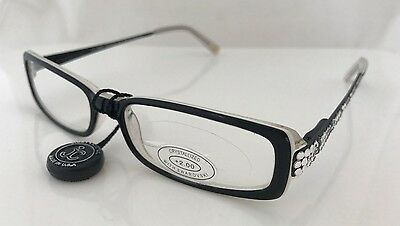 fdeb4539850 JIMMY CRYSTAL SWAROVSKI JCR131 Darlene Black Reading Glasses