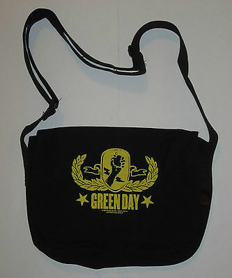 Green Day Yellow Crest Shoulder Bag , Punk Rock