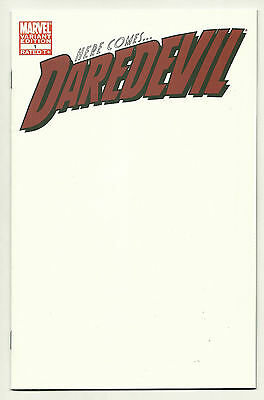 Daredevil 2011 #1 Blank Variant Near Mint