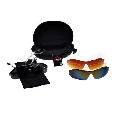 Sports Cycling Bike Bicycle Sunglasses UV400 5 Lens Goggles Glasses PE