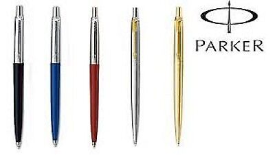 Parker Ballpoint Pen Black Blue Red Silver With Gold Clip Gold silver GENUINE