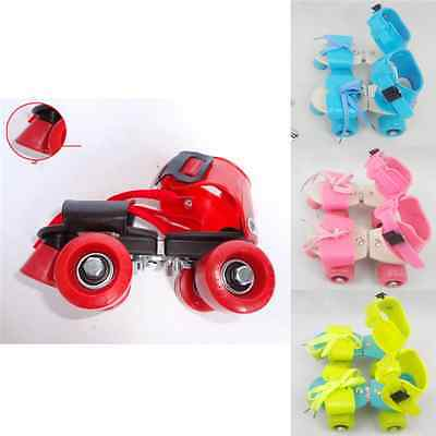 Adjustable Quad Speed Roller Skates Double Row Wheel Shoes Clamp Kid Gift