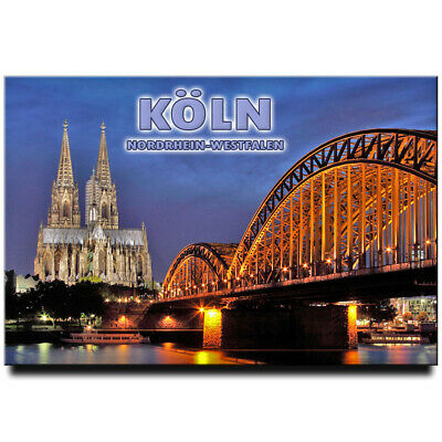 Fridge magnet with view of Köln, Cologne, Germany