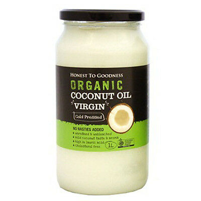 Honest to Goodness Organic Coconut Oil Virgin Raw 1L  Sri Lanka High Lauric Acid