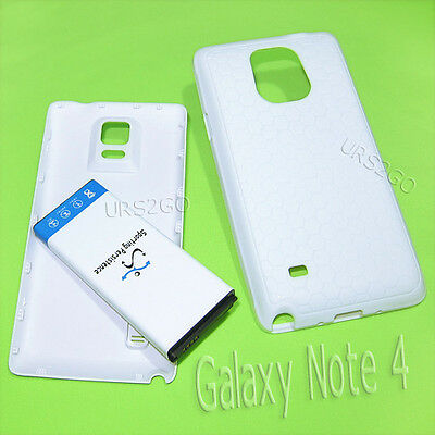 11900mAh Extended Battery TPU Case Cover For Samsung Galaxy Note 4 N910V Verizon