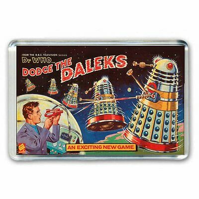 RETRO 60's -DOCTOR WHO -DODGE THE DALEKS ADVERT JUMBO FRIDGE MAGNET