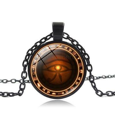 The Eye of Horus Pendant Long Chain Necklace Retro Sweater Jewelry Women Men Hot