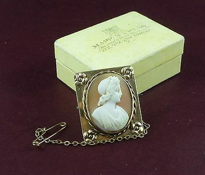 OUTSTANDING VICTORIAN PERIOD SHELL CAMEO IN 9ct GOLD FRAME