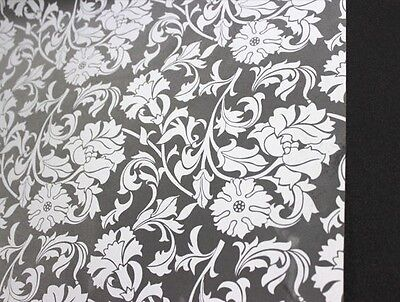 Privacy Window Film, Frosted Flower, William Morris, self-adhesive, Window Cover