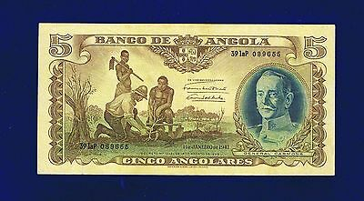 Angola  5 Angolares 1947 PIC77 F-Very Fine