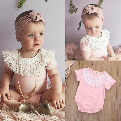 Toddler Infant Baby Kids Girls Summer Romper Jumpsuit Bodysuit Clothes Outfits