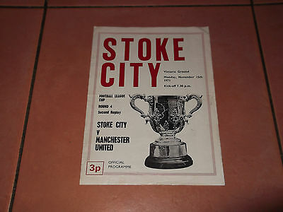 1971/72 Stoke V Man Utd League Cup 2Nd Replay