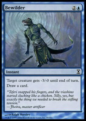 4x MTG: Bewilder - Blue Common - Time Spiral - TSP - Magic Card