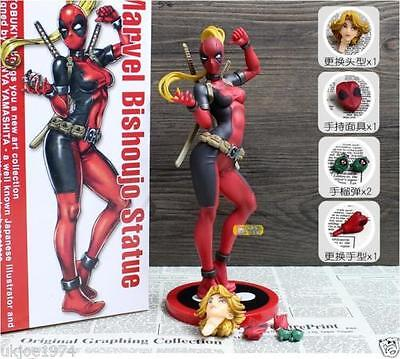 Marvel Bishoujo Statue Marvel Comics Lady Deadpool 1/7 Scale Action Figure NIB
