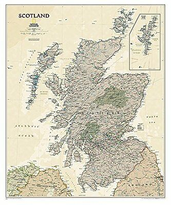 Scotland by National Geographic Maps New Sheet map  rolled Book